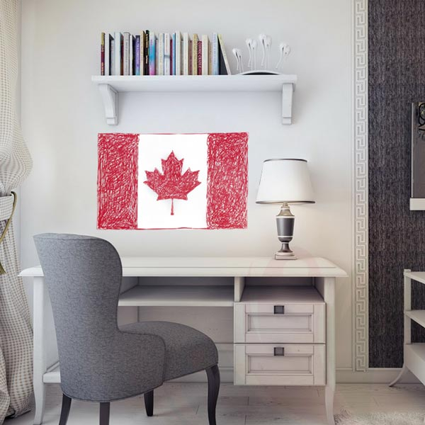 CanadianFlagDoodle_600x600_bedroom_red