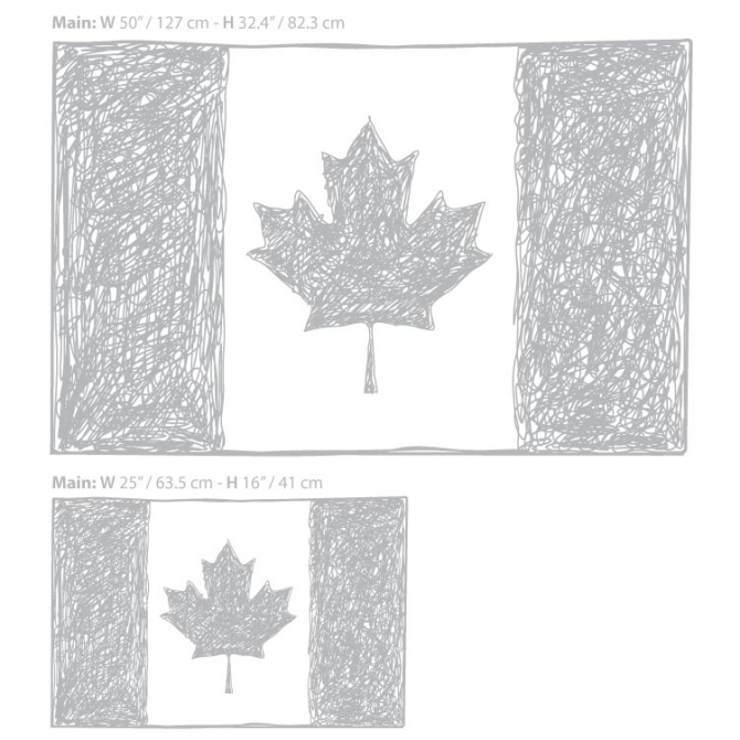 Canadian Flags Toronto Canadian Flag Wall Decal