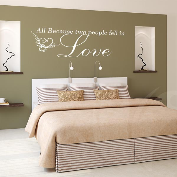 All because two people fell in love decal – Wall Decals and Wall ...