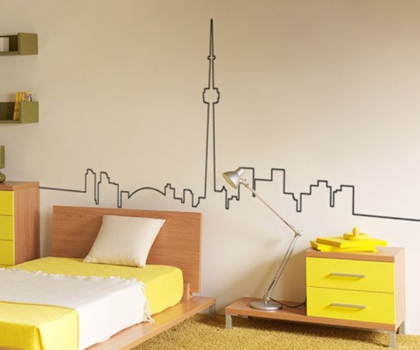 Toronto skyline wall decal sticker