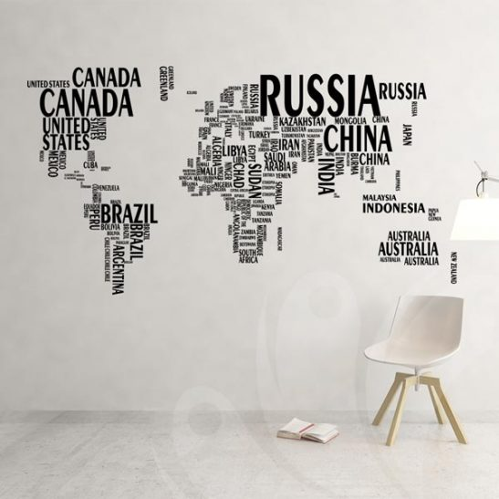 World map wall decal sticker wall decals and wall stickers toronto gumiabroncs Gallery