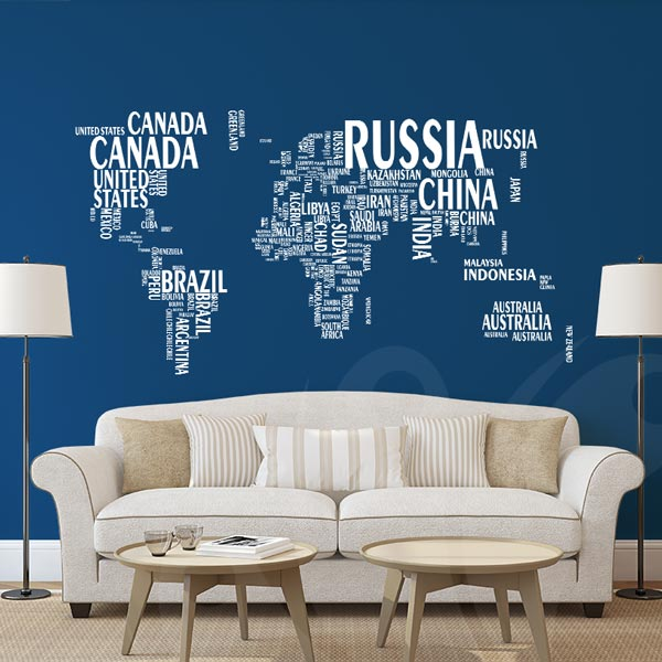 World Map Wall Decal Sticker Wall Decals and Wall Stickers Toronto