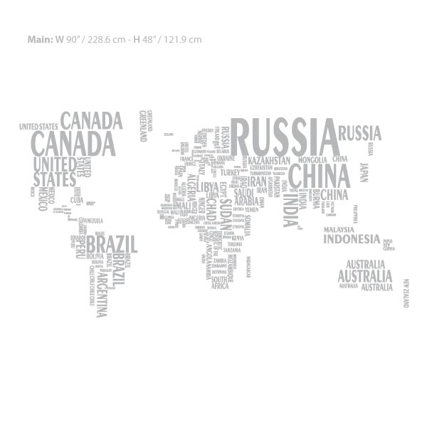 World map wall decal sticker wall decals and wall stickers toronto modernwall decals gumiabroncs Gallery