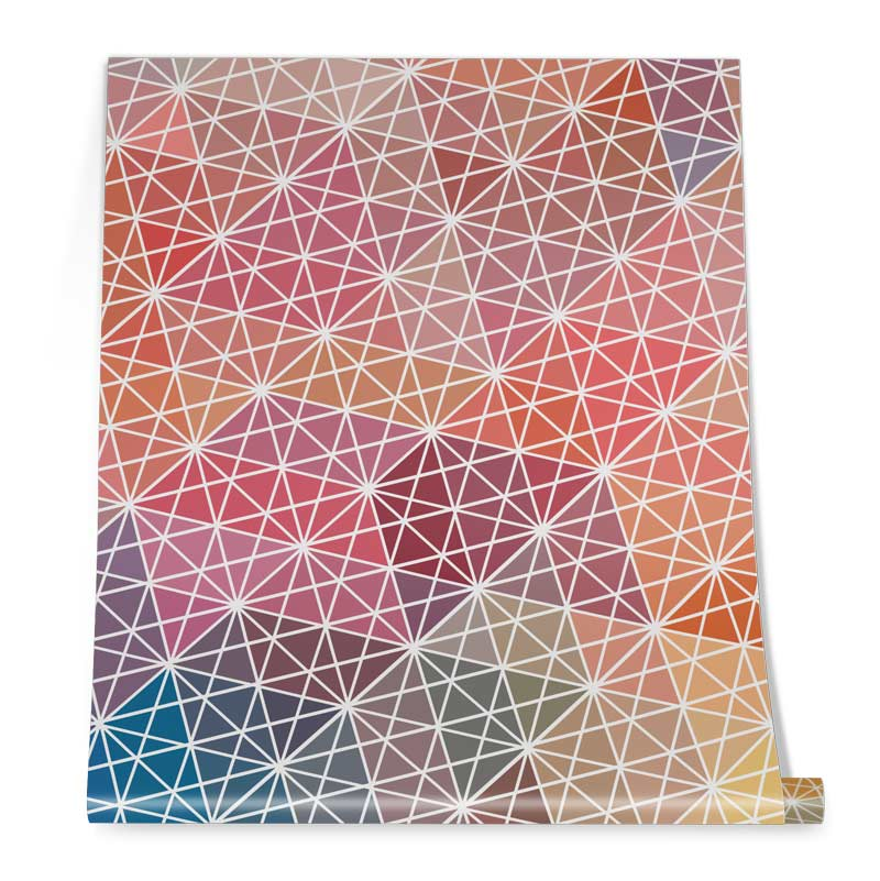 Geometrical pattern wallpaper