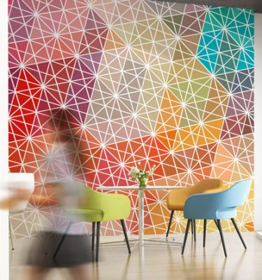 Geometrical wallpaper graphic
