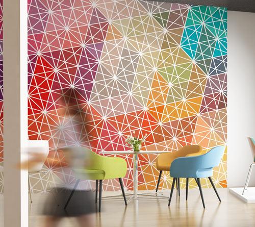 Geometrical wallpaper graphic