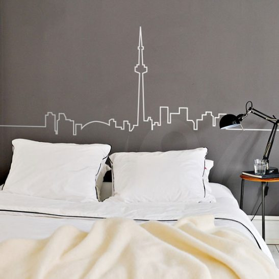 Toronto skyline wall decal sticker wall decals and wall stickers toronto