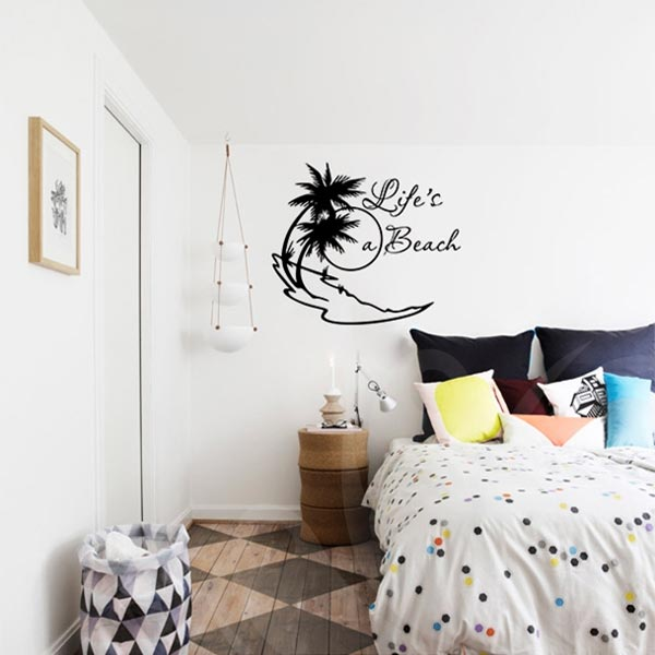 life s a beach wall decal wall decals wall stickers toronto