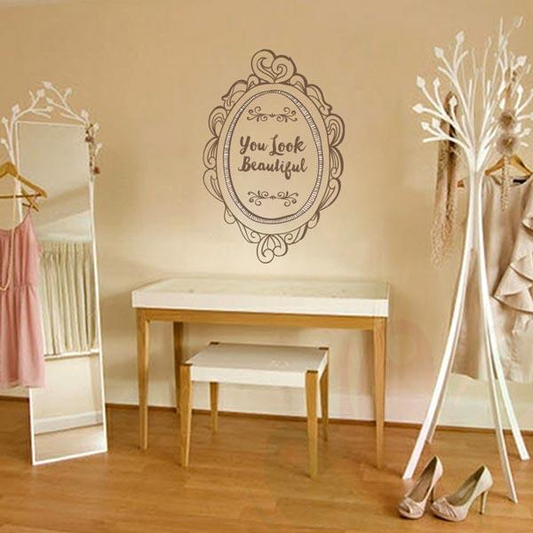 Beautiful Mirror you look beautiful mirror wall decor – wall decals and wall