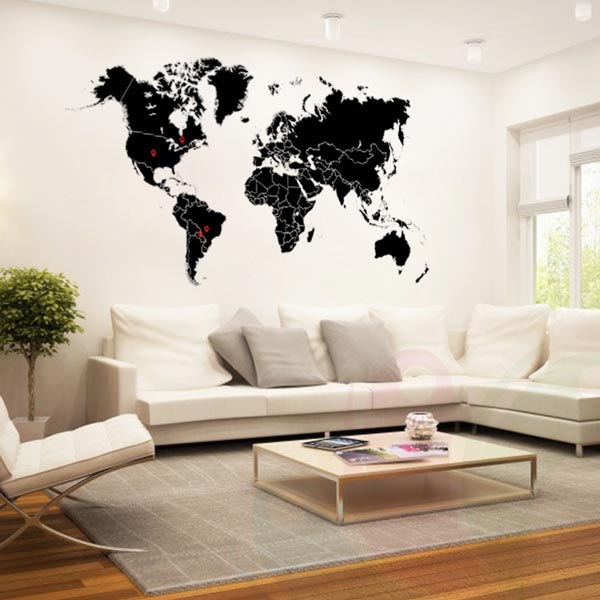 world map pin wall decal wall decals wall stickers toronto