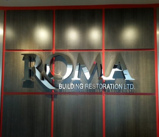 creative silhouettes Reception-sign-metal-office