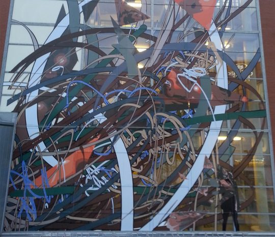 creative silhouettes window-decal-print-vinyl-install-building