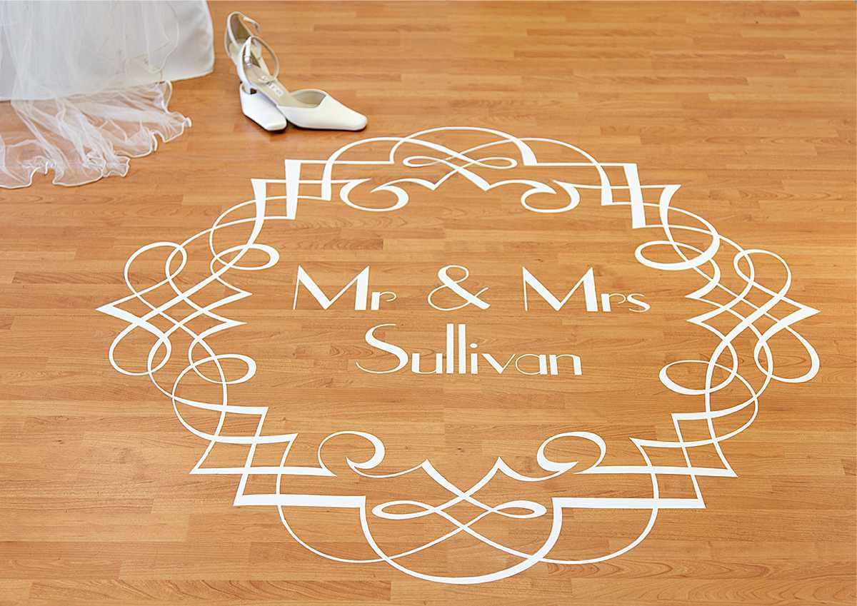 floor decal cutout