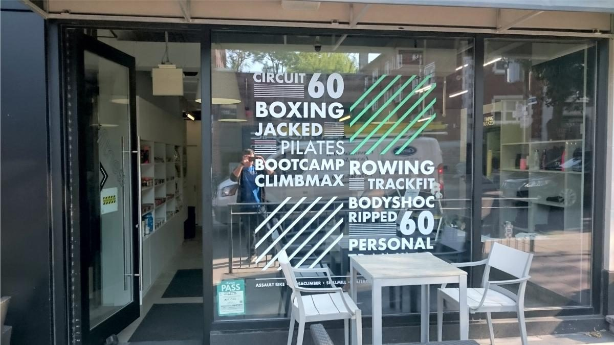 Window decal for retail store toronto
