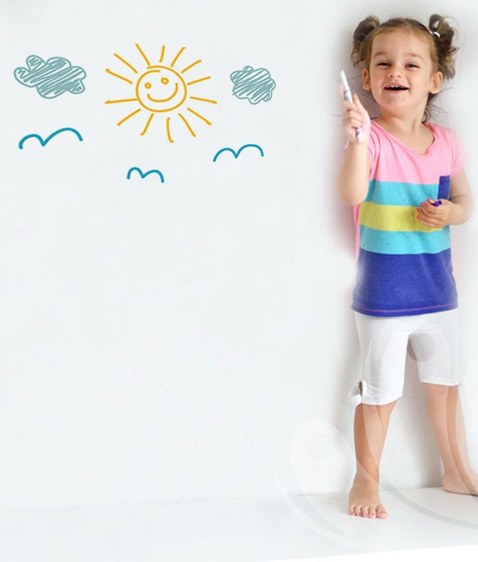 Dry erase wall decal