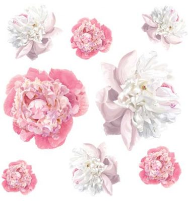 peony wall decal sticker