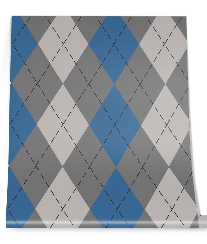 Diamond pattern wall graphic