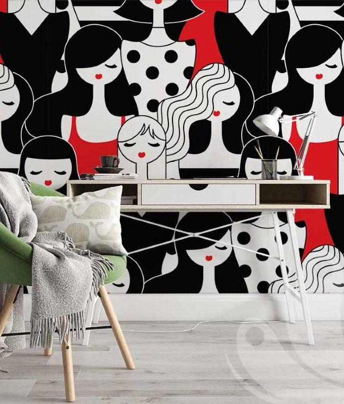 Girl Doodle Wallpaper