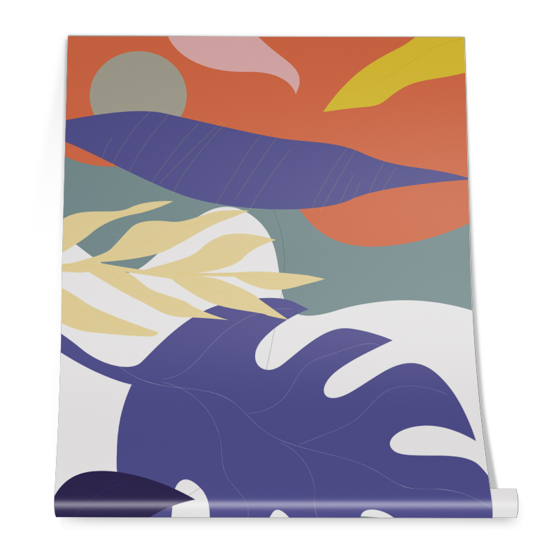 Abstract Leafs Wall Graphic