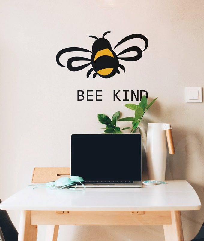 Bee kind wall decal