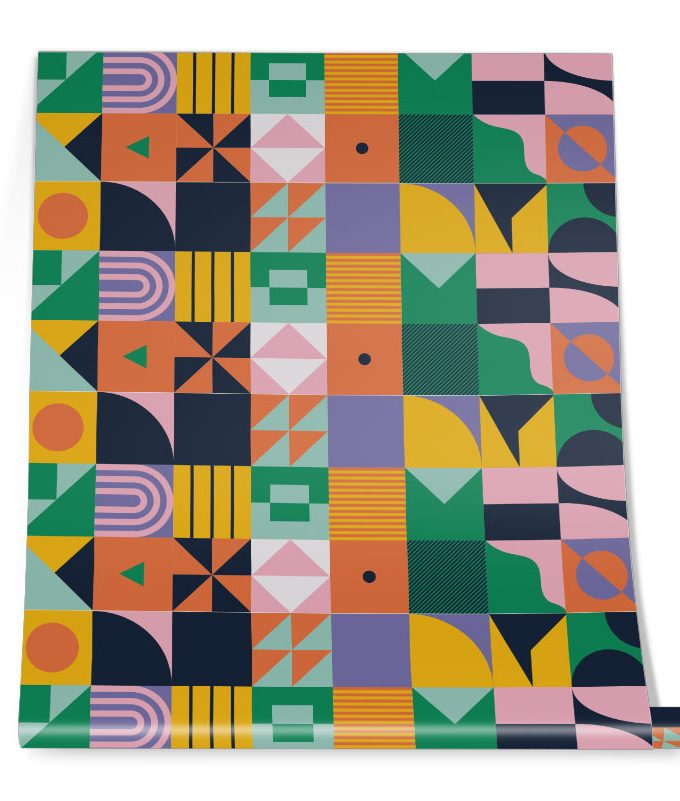 Tropical Abstract Pattern Roll