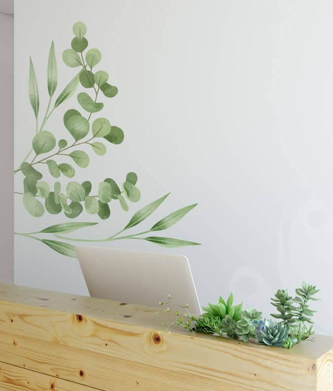 Eucaliptus Wall Decal Sticker