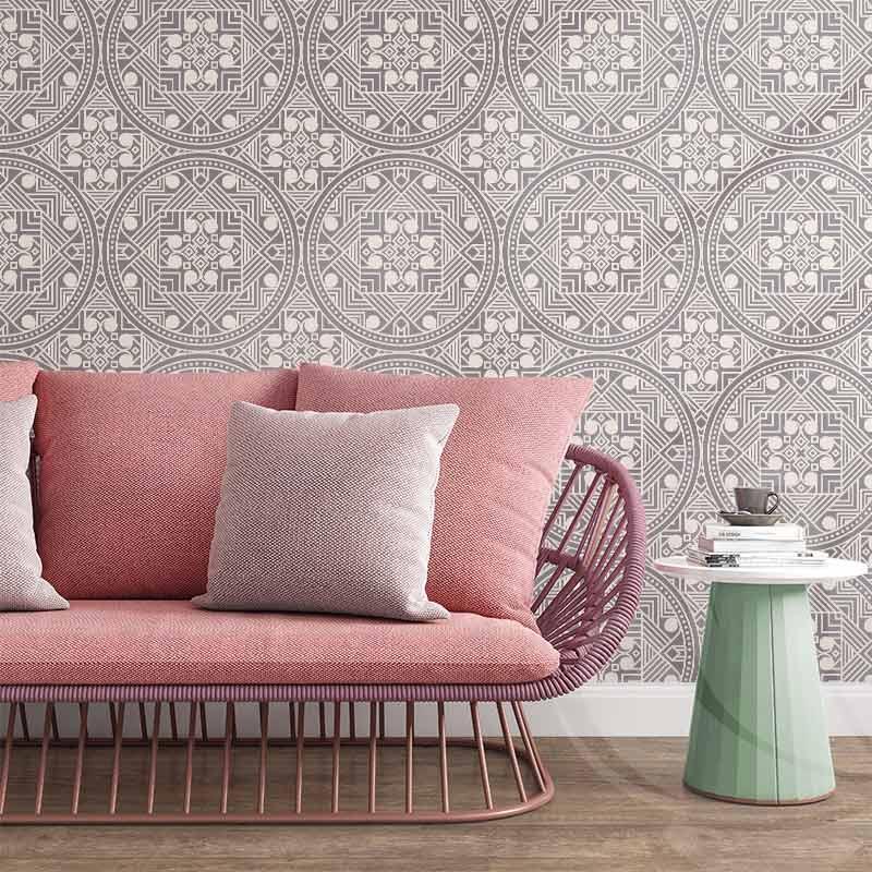Abstract Ethnic Light Wallpaper