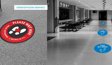 Floor Graphics for indoor and outdoor