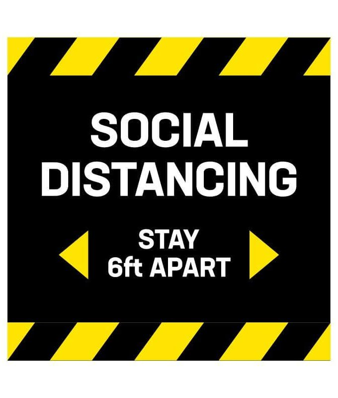 Square Social Distancing Decals