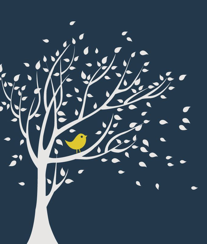 Tree & Bird Wall Decal