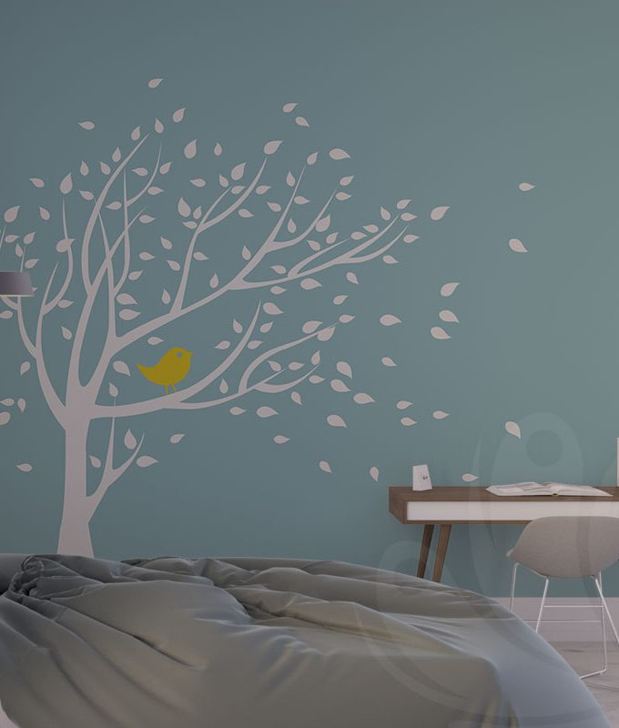 Tree & Bird Wall Decal