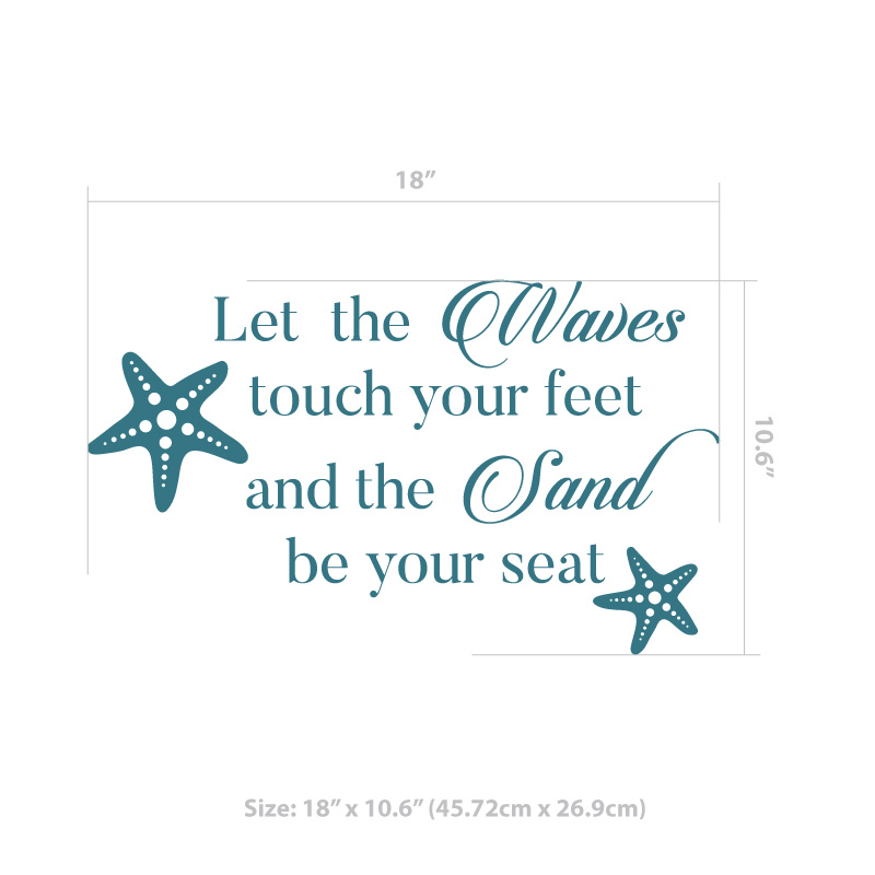 Let the Waves Touch Decal
