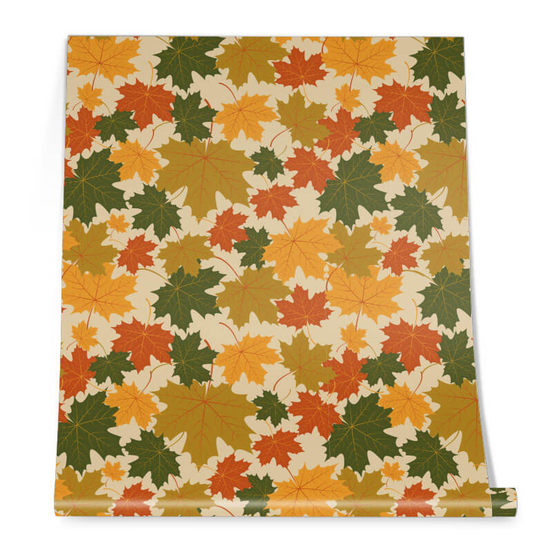 Fall Pattern Wall Graphic Roll