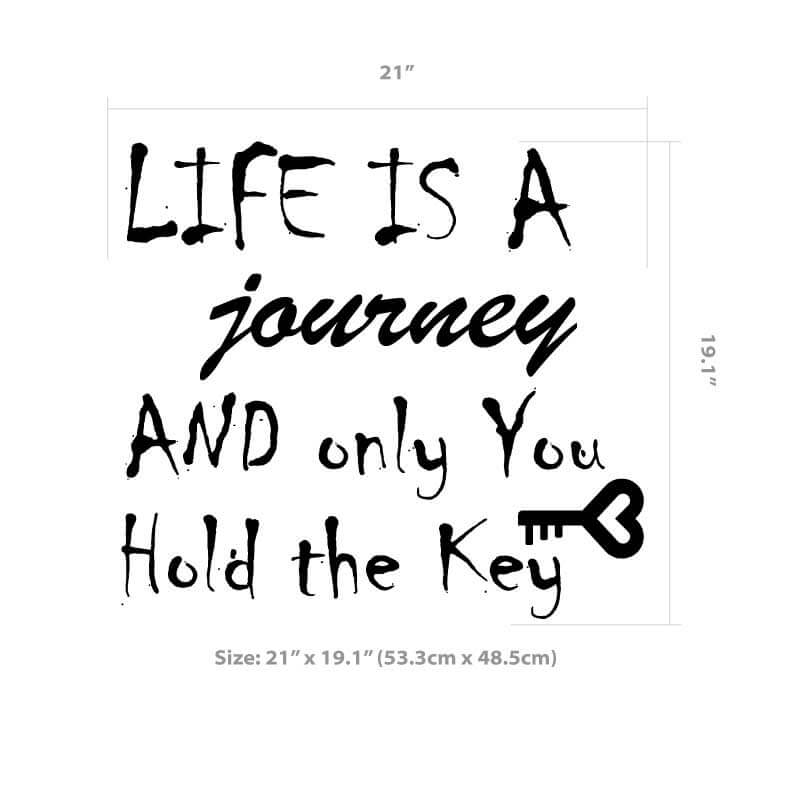 Life is a journey size