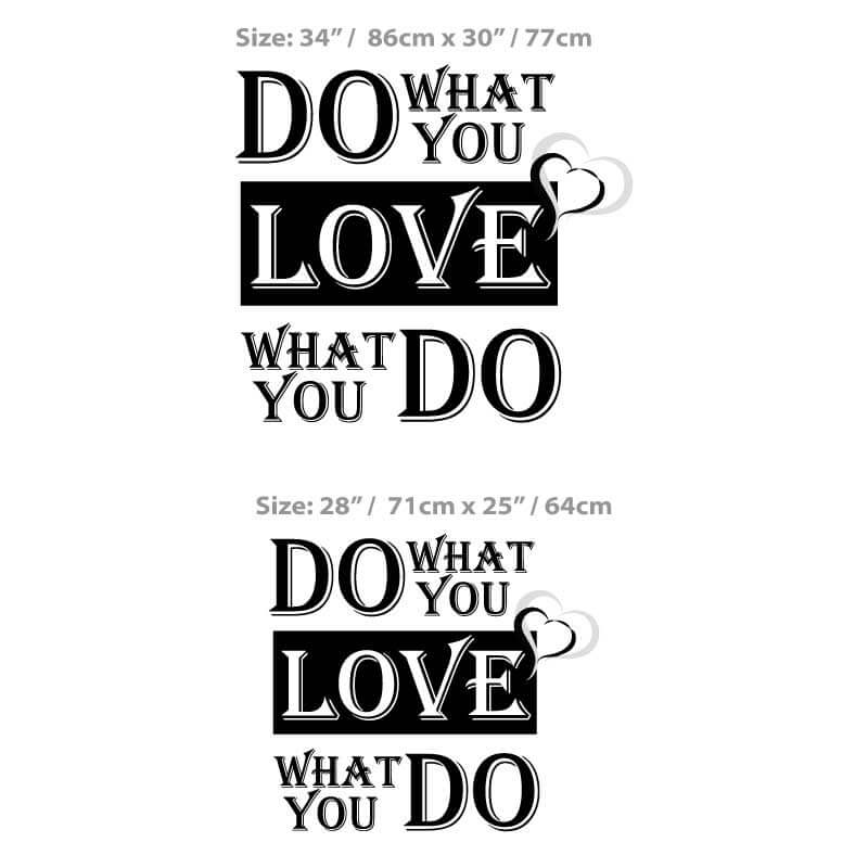 Do What You Love Size