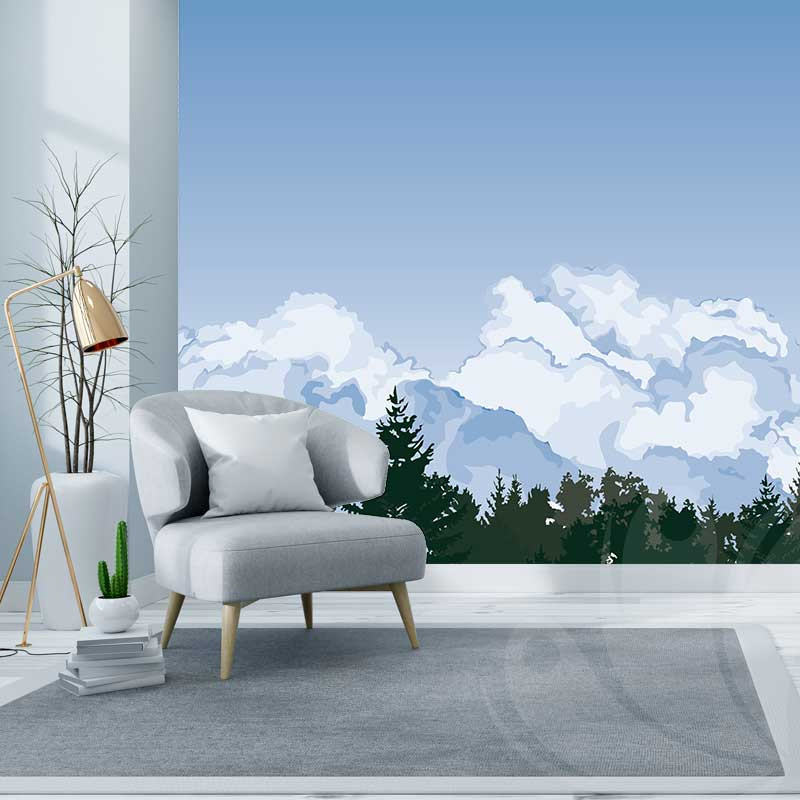 Clouds Wall Graphic Sample
