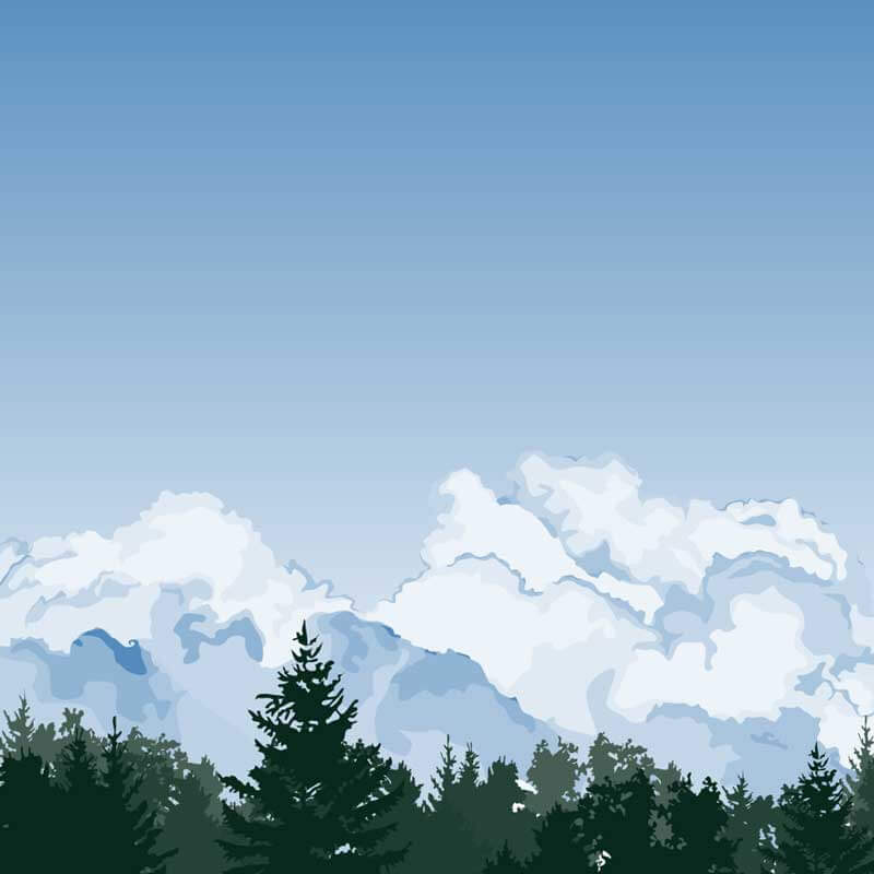 Clouds Wall Graphic