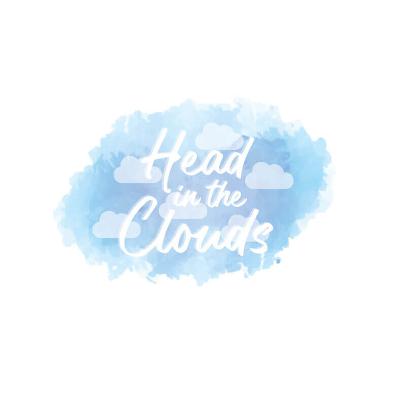 Head in the Clouds Wall Decal
