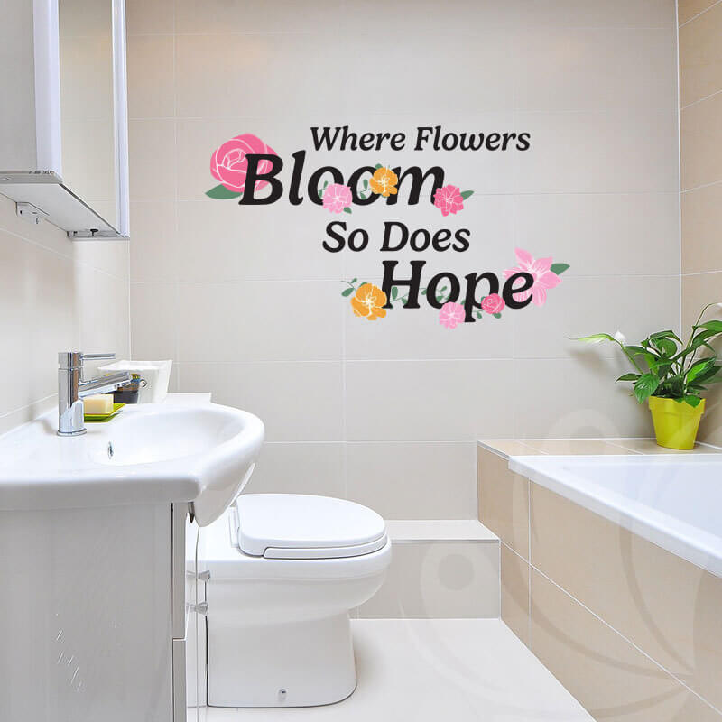 Flowers Hope Wall Decal