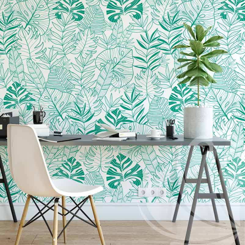 Light Tropical leaves wallpaper