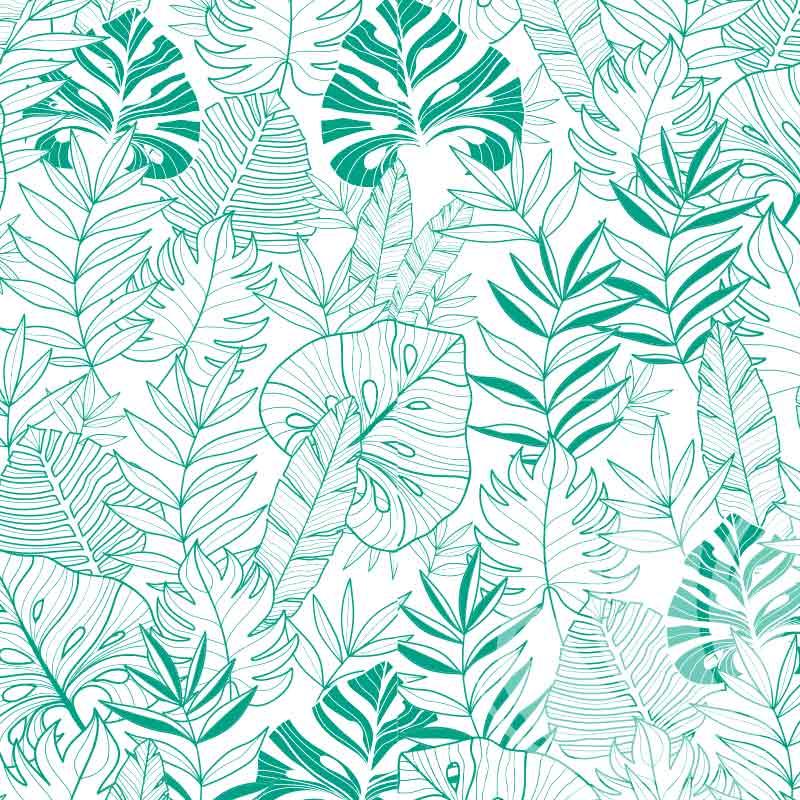 Light Tropical leaves wallpaper Pattern
