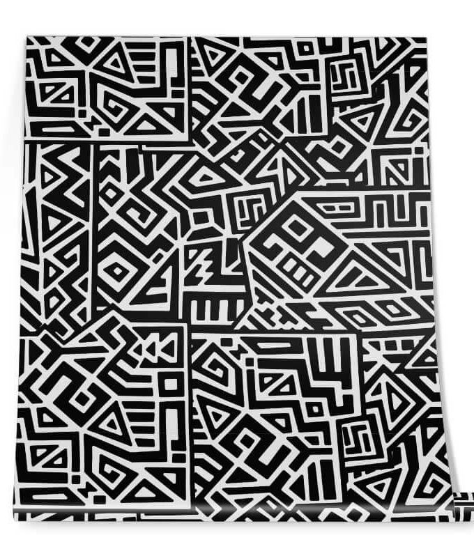 Square Doodle Wall Graphic Roll