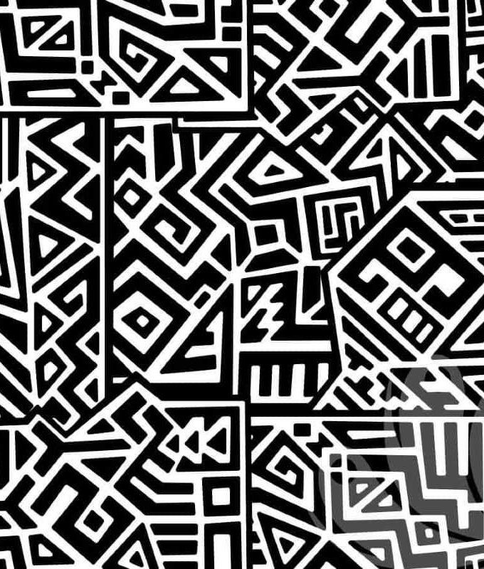 Square Doodle Wallpaper Pattern