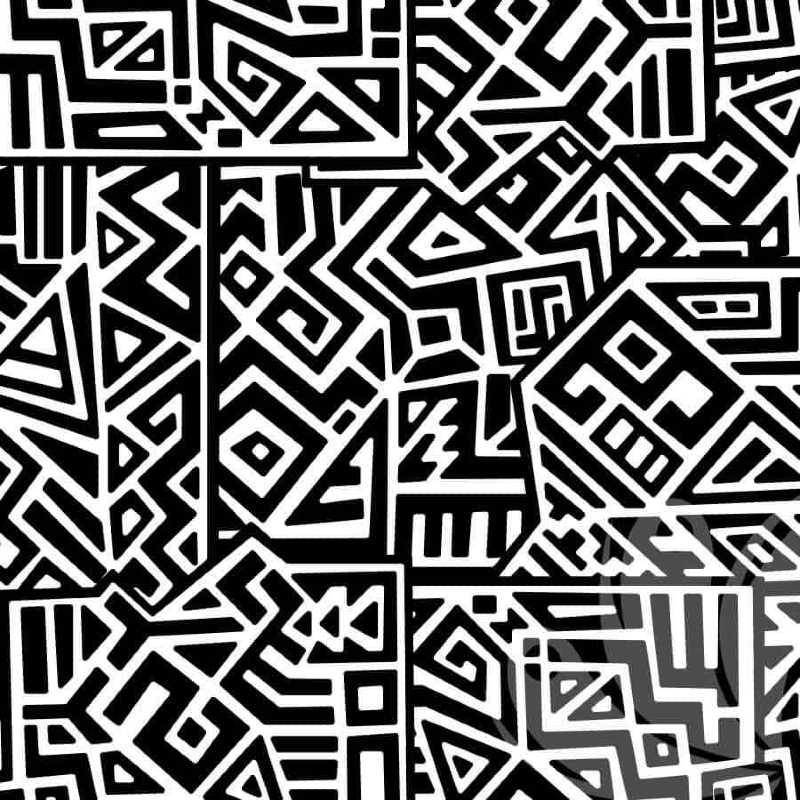 Square Doodle Wallpaper Pattern