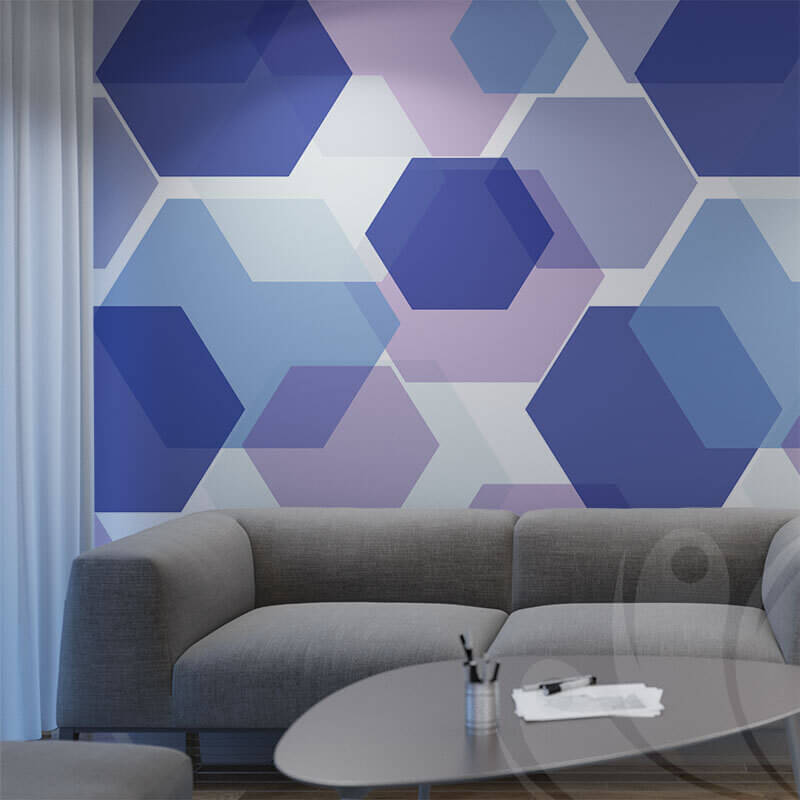 Colourful Hexagon Pattern for office