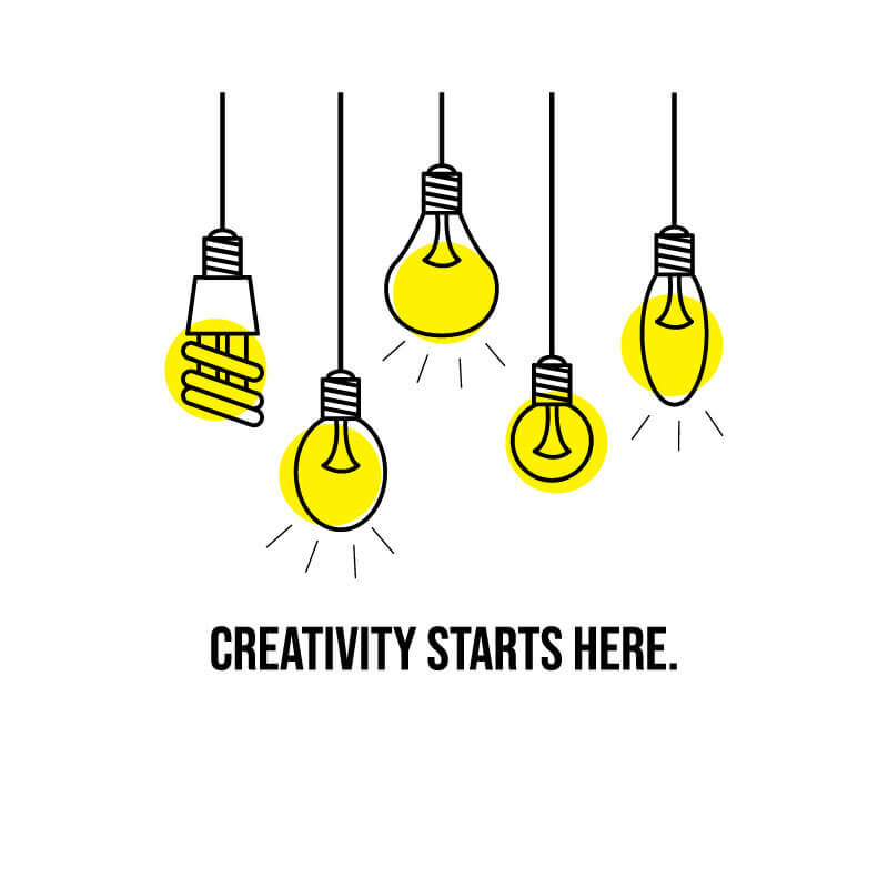 Creativity starts here decal