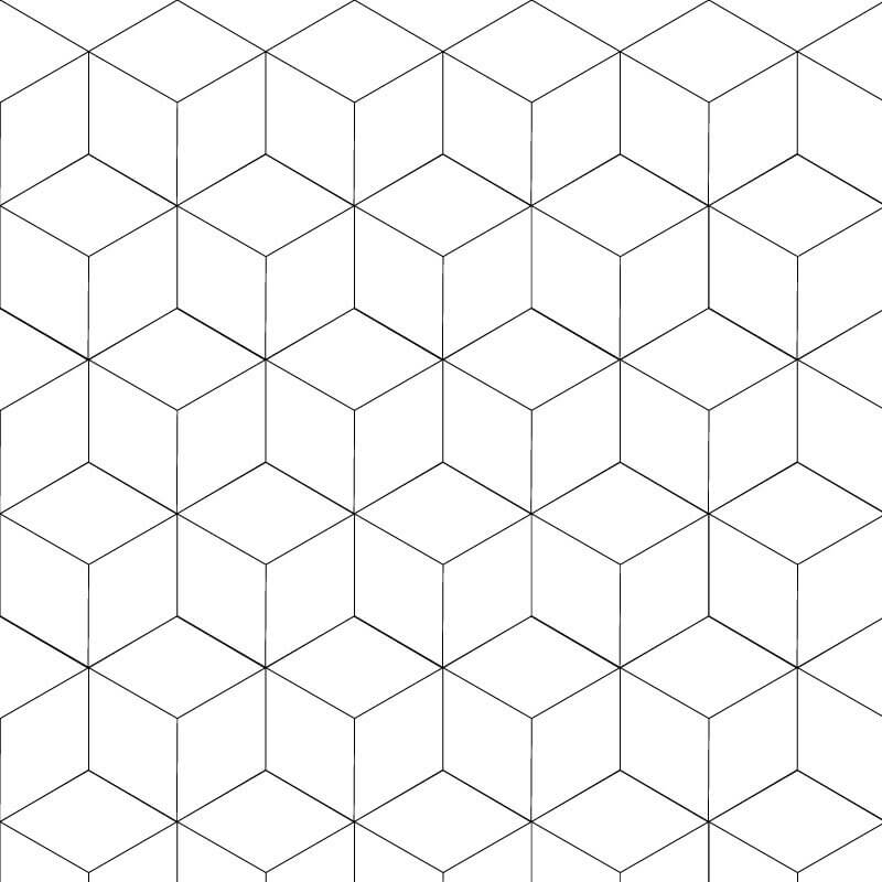 Cube Wall Graphic Pattern