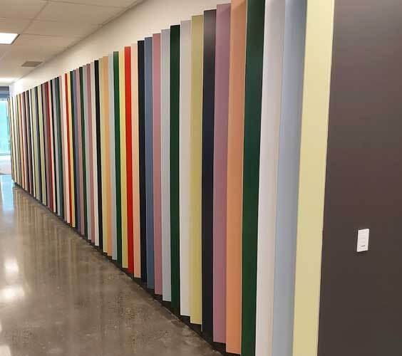 Fin wall graphics