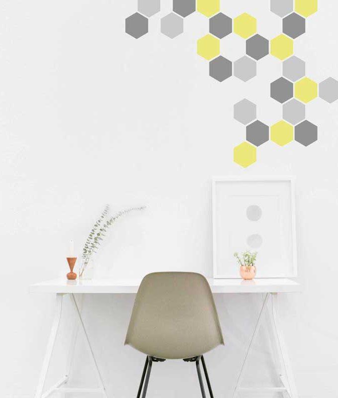 Hexagonal Wall Decal