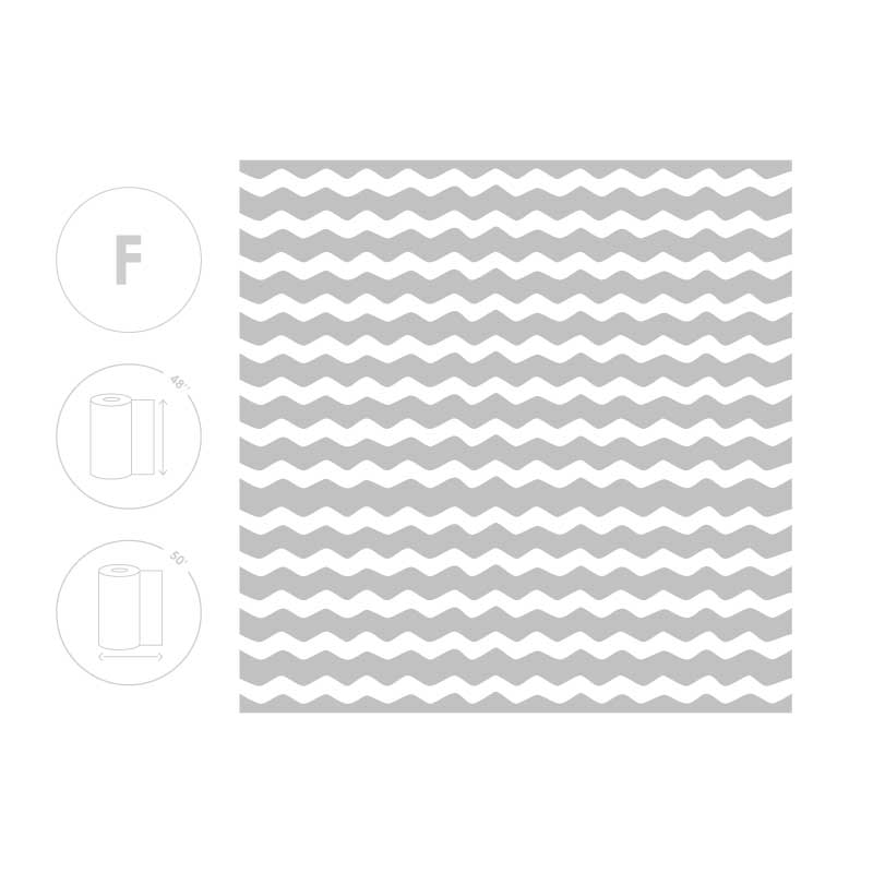 Horizontal Wave Frosted Film Pattern